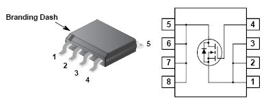 Nchannel power MOSFET 30V  60A ID 355  175